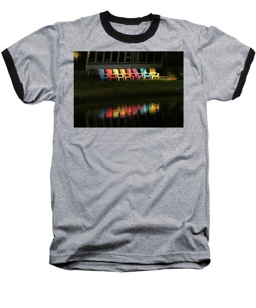 Rainbow Chairs  Baseball T-Shirt