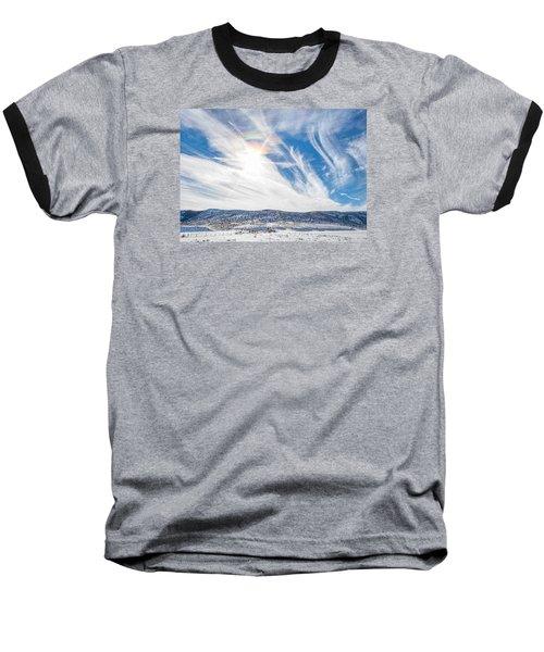 Rainbow Clouds Baseball T-Shirt