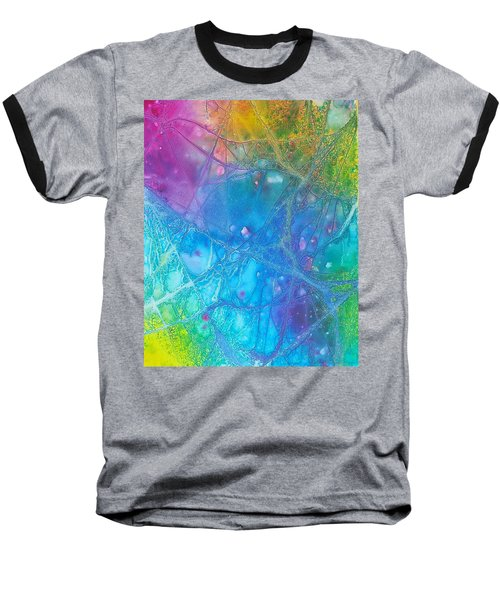 Rainbow Baseball T-Shirt by Artists With Autism Inc