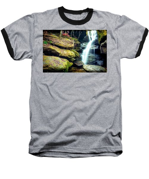 Baseball T-Shirt featuring the photograph Rainbow Falls At Dismals Canyon by David Morefield