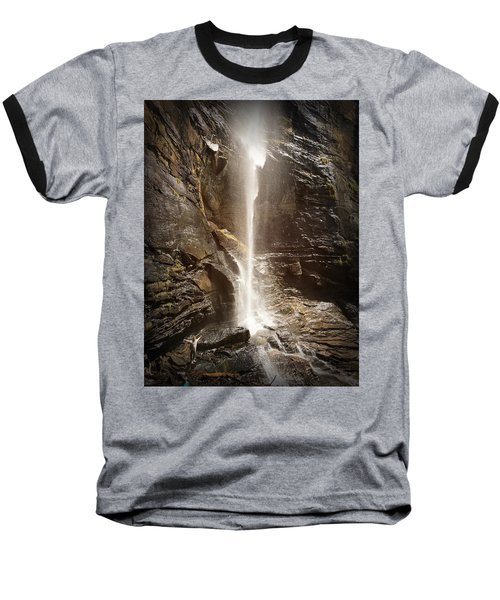 Rainbow Falls Of Jones Gap Baseball T-Shirt by Kelly Hazel