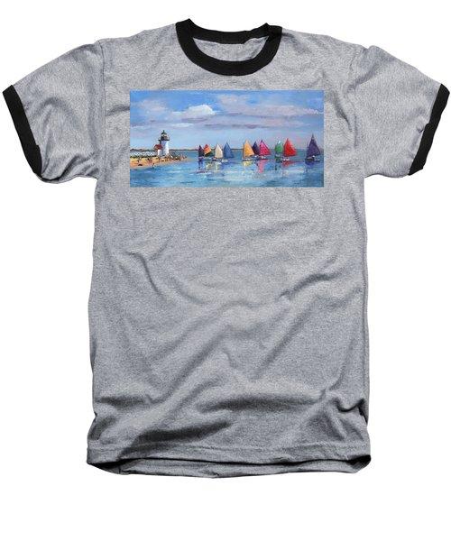Rainbow Fleet Parade At Brant Point Baseball T-Shirt by Trina Teele