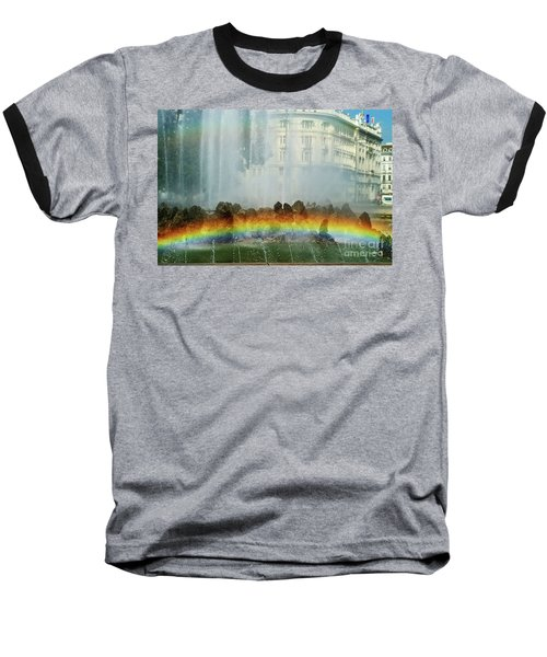 Baseball T-Shirt featuring the photograph Rainbow Fountain In Vienna by Mariola Bitner