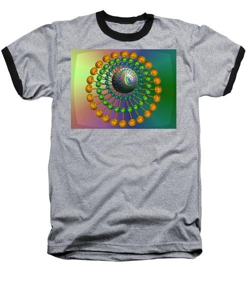 Rainbow Fractal Baseball T-Shirt