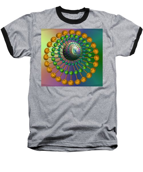 Rainbow Fractal Baseball T-Shirt