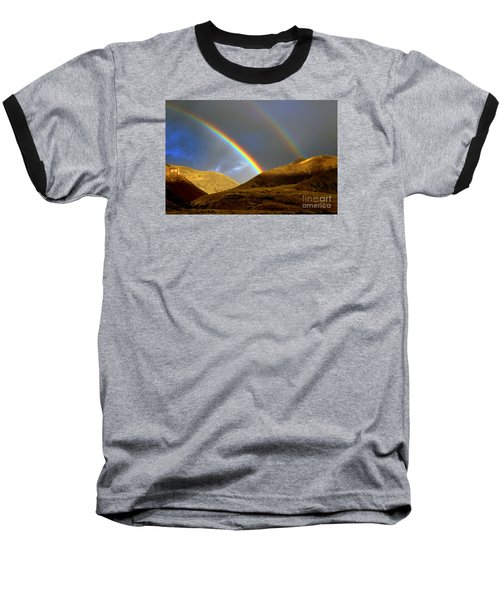 Rainbow In Mountains Baseball T-Shirt