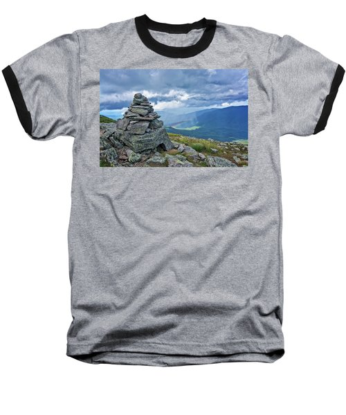 Rainbow In The Mist Nh Baseball T-Shirt by Michael Hubley