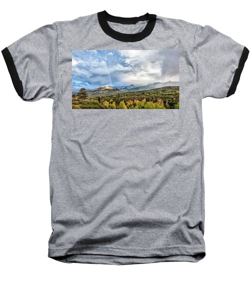 Baseball T-Shirt featuring the photograph Rainbow In The San Juan Mountains by Jon Glaser
