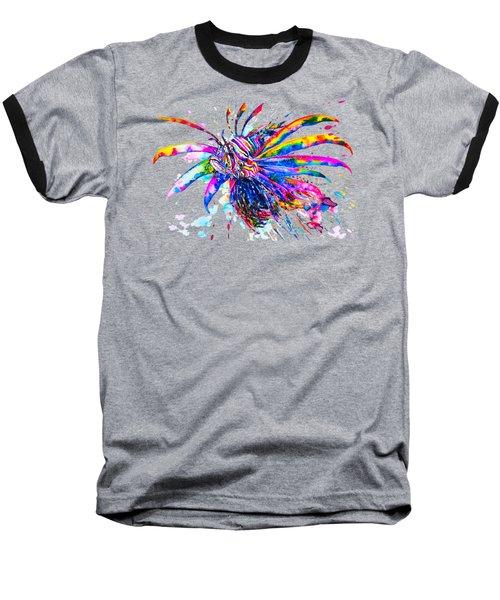 Rainbow Lionfish Baseball T-Shirt