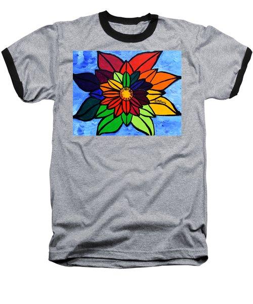 Rainbow Lotus Flower Baseball T-Shirt