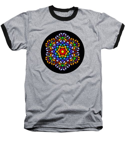 Rainbow Mandala By Kaye Menner Baseball T-Shirt