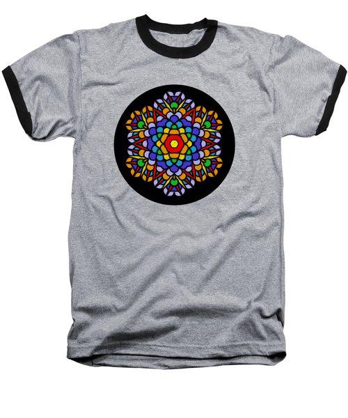 Rainbow Mandala By Kaye Menner Baseball T-Shirt