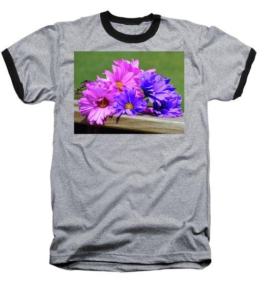 Rainbow Mums 2 Of 5 Baseball T-Shirt by Tina M Wenger