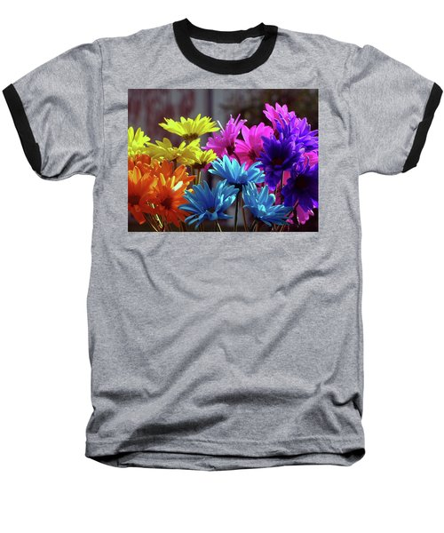 Rainbow Mums 5 Of 5 Baseball T-Shirt by Tina M Wenger