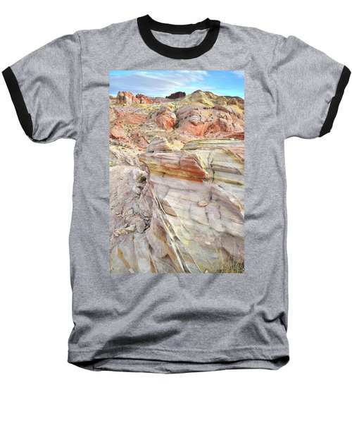 Rainbow Of Color At Valley Of Fire Baseball T-Shirt by Ray Mathis