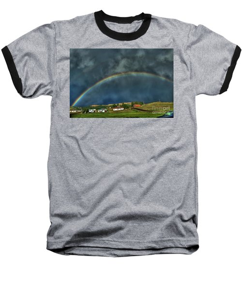 Rainbow Over Cripple Creek Baseball T-Shirt