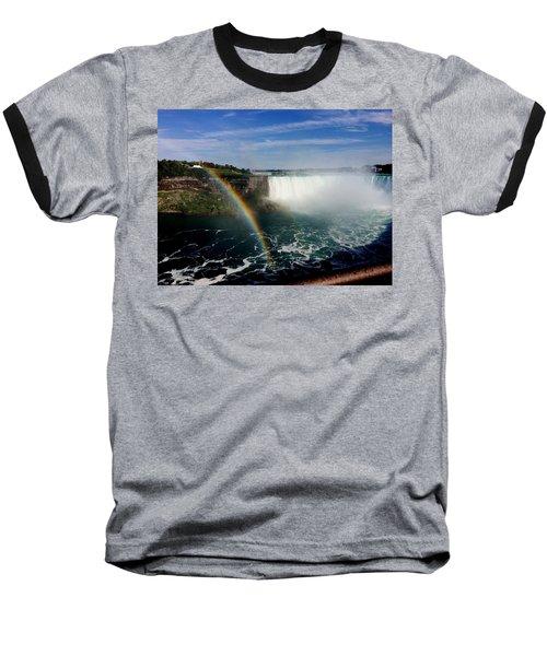 Rainbow Over Horseshoe Falls Baseball T-Shirt