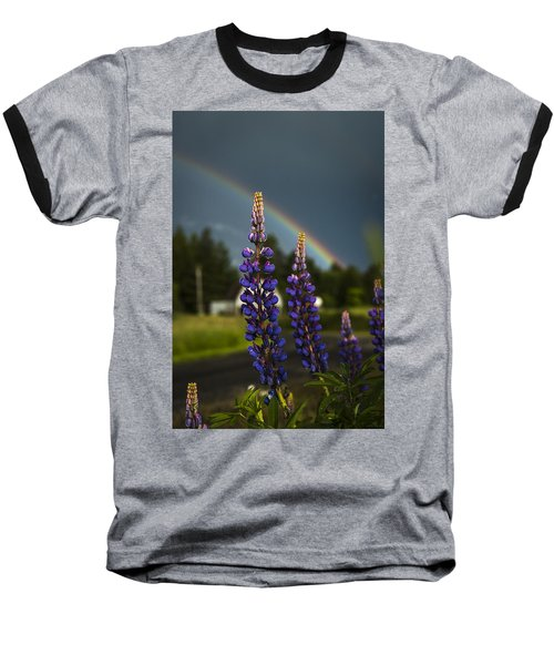 Rainbow Over Lupine  Baseball T-Shirt