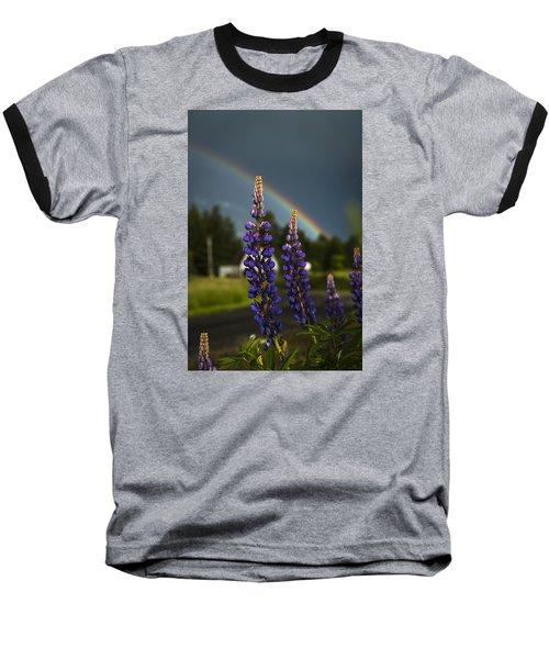 Rainbow Over Lupine  Baseball T-Shirt