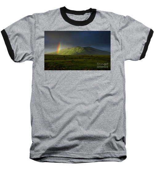 Rainbow Over Mount Ara After Storm, Armenia Baseball T-Shirt