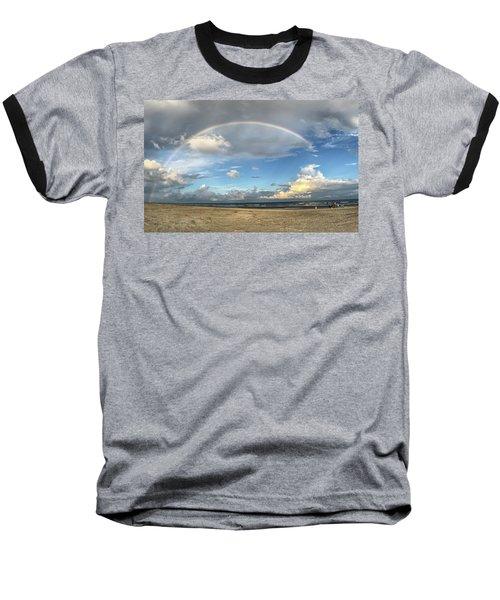 Rainbow Over Ocean Baseball T-Shirt