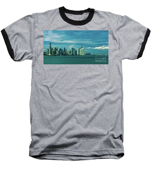 Rainbow Over Panama City Baseball T-Shirt