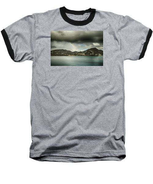 Baseball T-Shirt featuring the photograph Rainbow Over St. Maarten by Coby Cooper