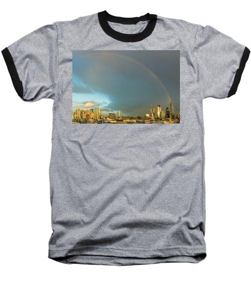 Rainbow Over The City Of London Baseball T-Shirt