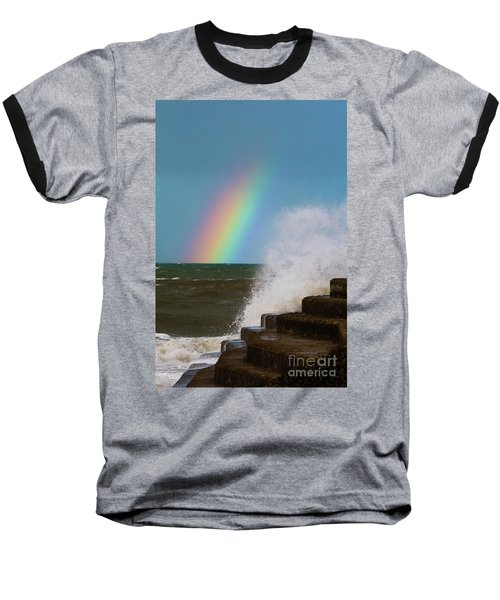 Rainbow Over The Crashing Waves Baseball T-Shirt