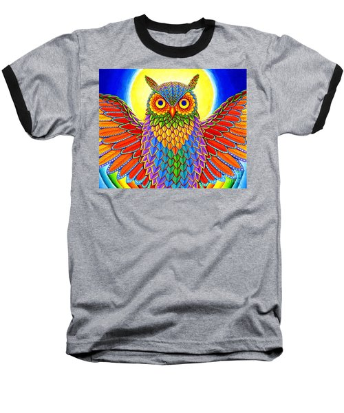Rainbow Owl Baseball T-Shirt