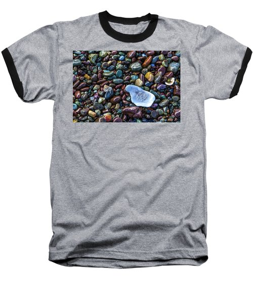 Rainbow Pebbles Baseball T-Shirt