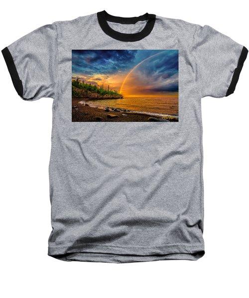 Rainbow Point Baseball T-Shirt