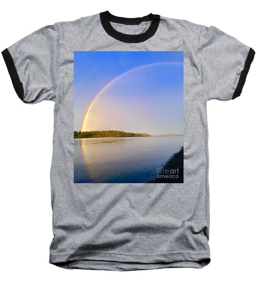 Rainbow Reflection Baseball T-Shirt by Sean Griffin