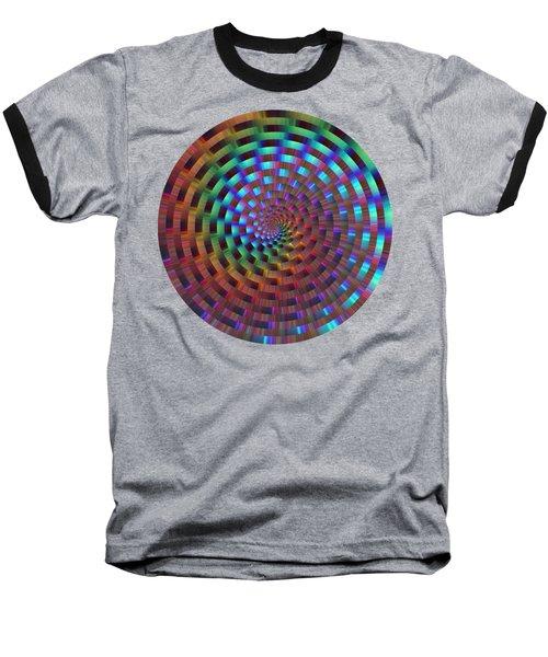 Rainbow Rings Spiral Baseball T-Shirt