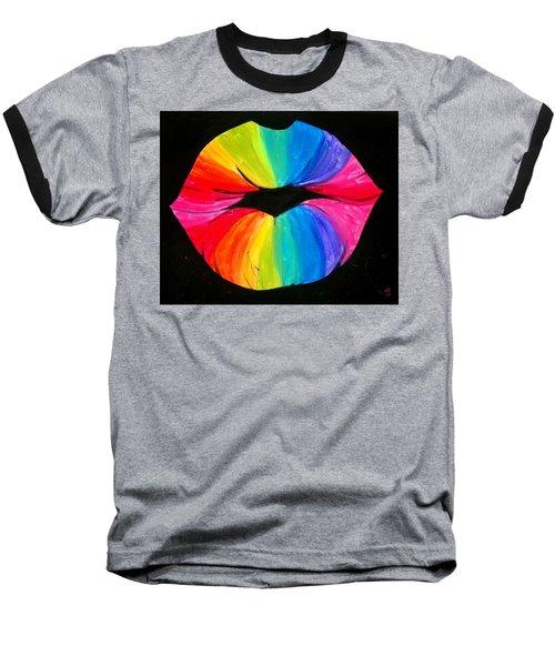 Rainbow Smooch Baseball T-Shirt