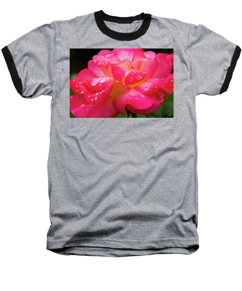 Baseball T-Shirt featuring the photograph Rainbow Sorbet Raindrops by Ken Stanback