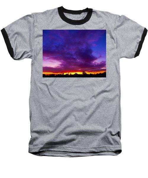 Rainbow Sunset Baseball T-Shirt by Mark Blauhoefer
