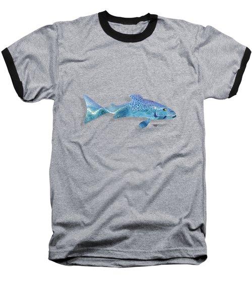 Rainbow Trout Baseball T-Shirt by Mikael Jenei