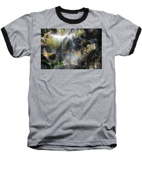 Rainbow Waterfall Baseball T-Shirt