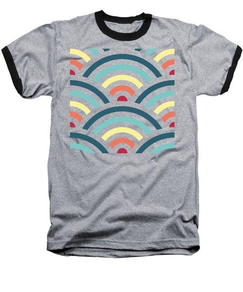 Rainbowaves Pattern Dark Baseball T-Shirt