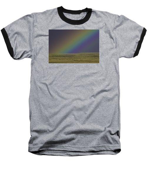 Rainbows End Baseball T-Shirt by Elizabeth Eldridge