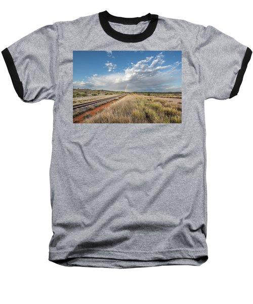 Rainbows Over Ghan Tracks Baseball T-Shirt