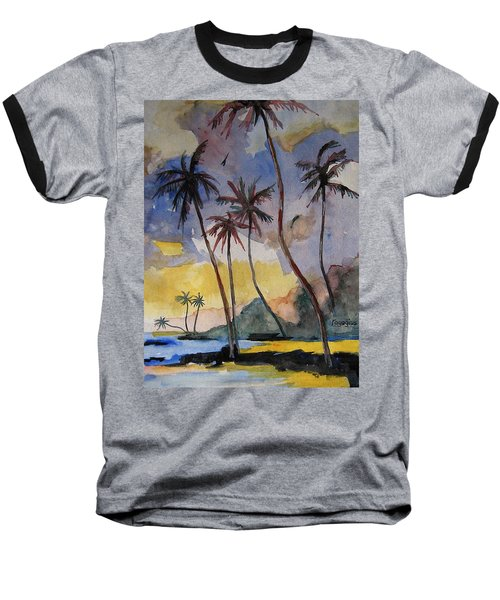 Rainbows Baseball T-Shirt by Ray Agius