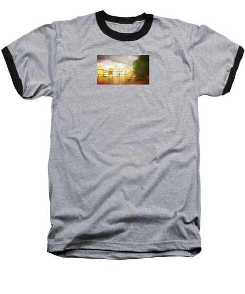 Baseball T-Shirt featuring the photograph Raincloud Over Malamocco by Anne Kotan