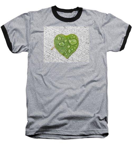 Raindrop Reflections Baseball T-Shirt by Allan Levin