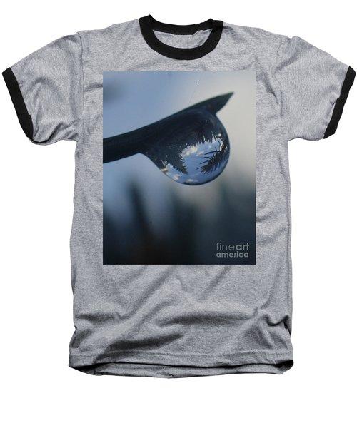 Baseball T-Shirt featuring the photograph Raindrop World by Christina Verdgeline