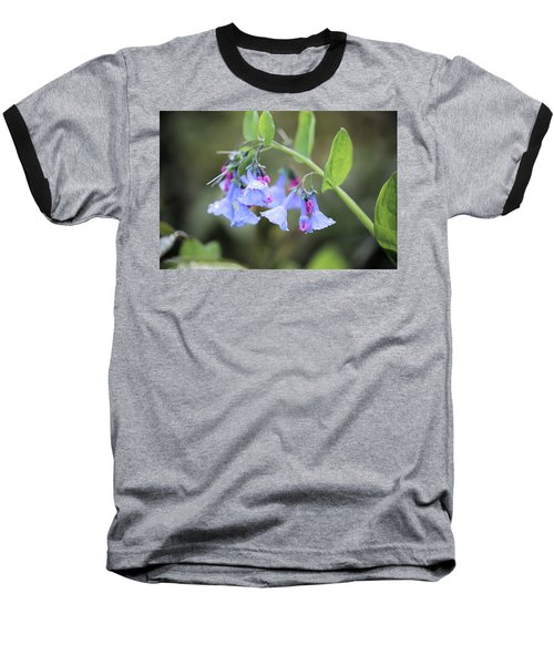 Raindrops On Blue Bells Baseball T-Shirt