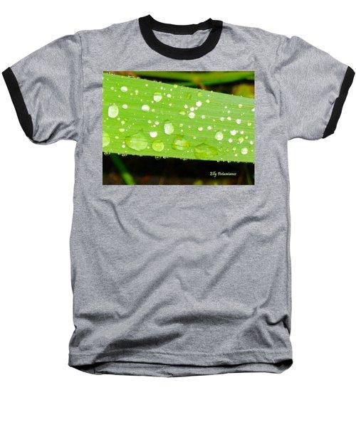 Raindrops On Leaf Baseball T-Shirt