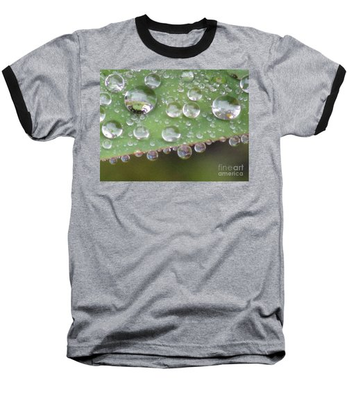 Raindrops On Leaf. Baseball T-Shirt