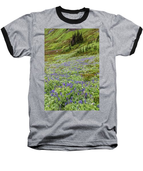 Baseball T-Shirt featuring the photograph Rainier Alpine Wildflowers by Pierre Leclerc Photography